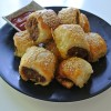 Spicy Banana Ketchup Cheesy Sausage Rolls
