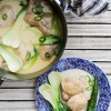 Ginataang Manok (chicken stewed in spicy coconut milk)