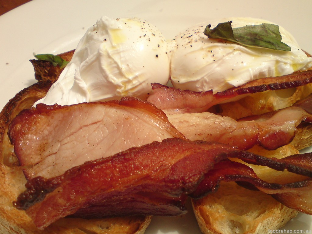Porgie Mr Jonnes Coffee poached eggs with bacon