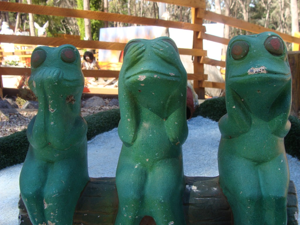 Frogs at Daylesford Mini Golf