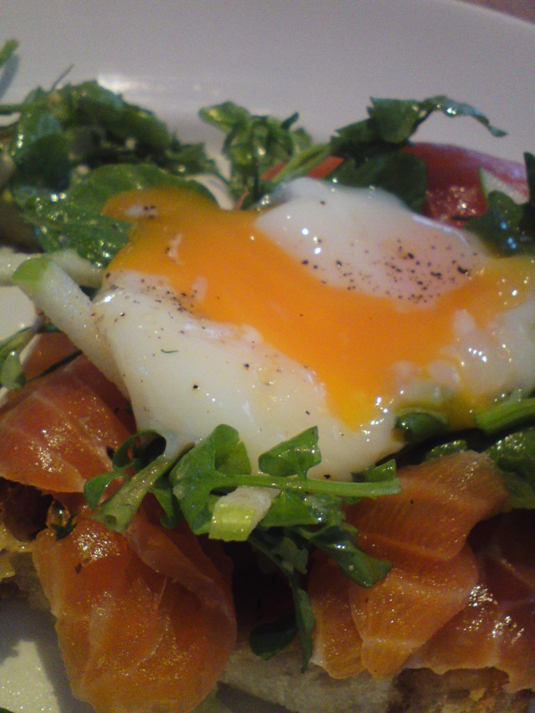 Cummulis inc smoked salmon poached egg