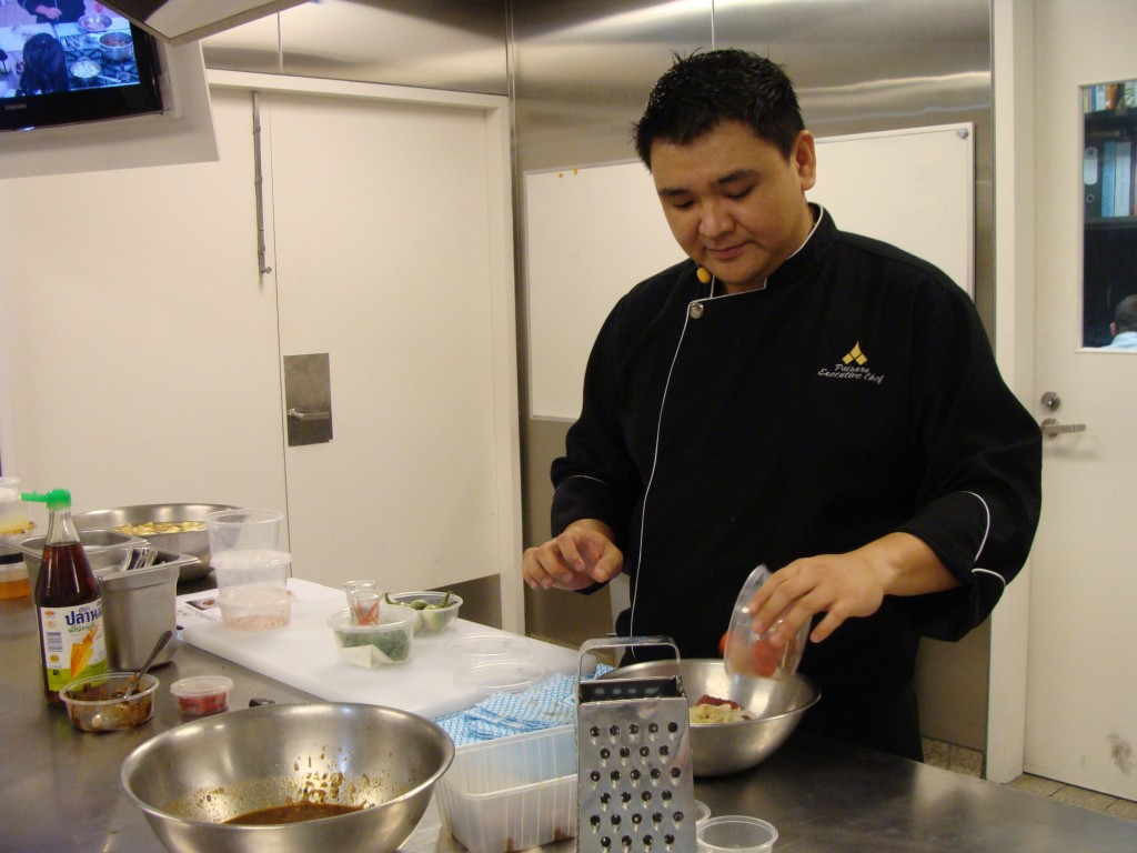 Executive Chef, Paisarn Cheewinsiriwat prep work