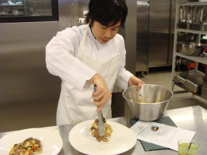 Plating my Thai Beef Salad