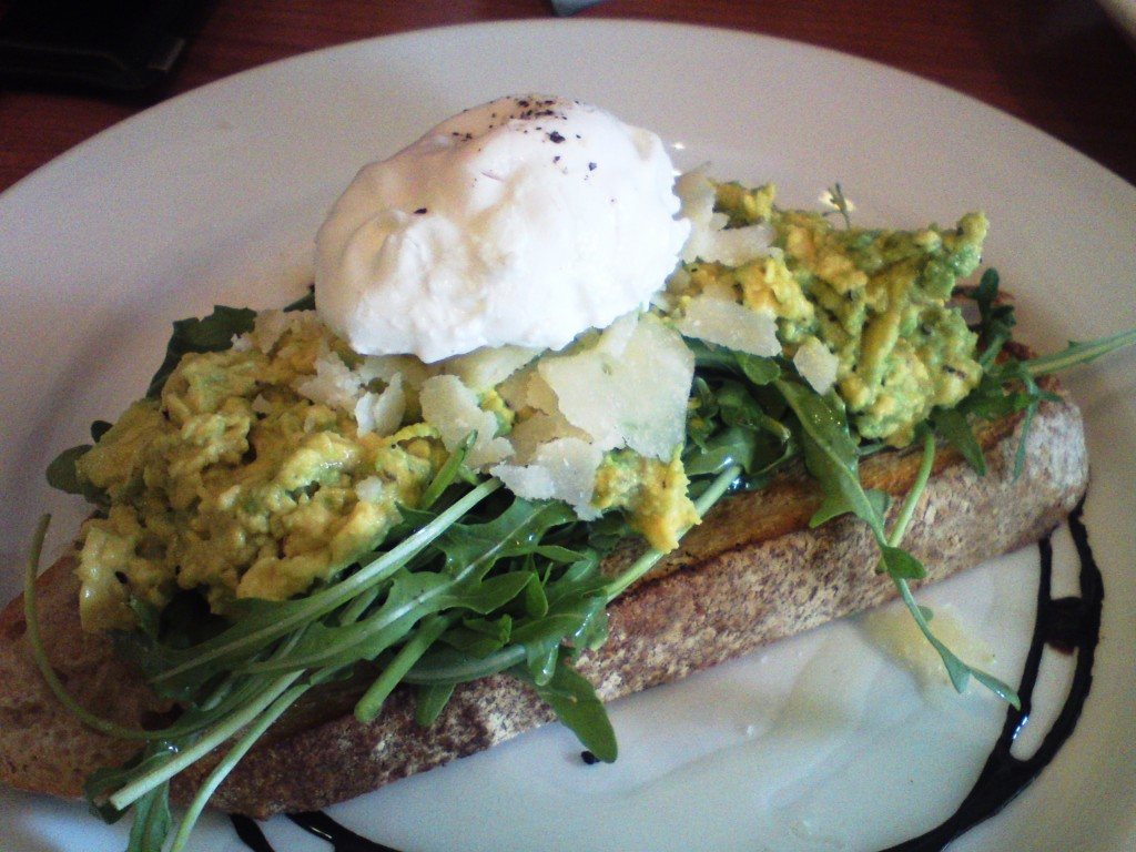 oaktree cafe smashed avocado
