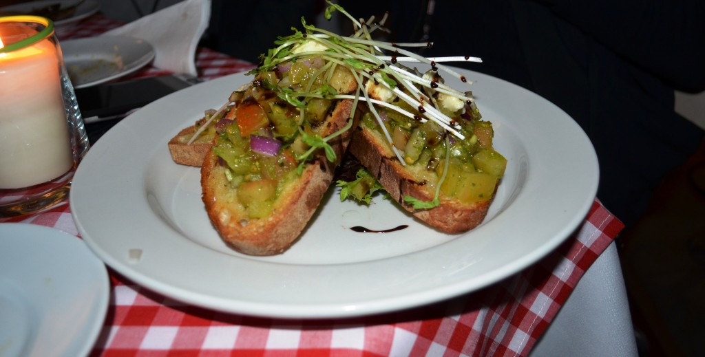 bruschetta at Italian Brasserie