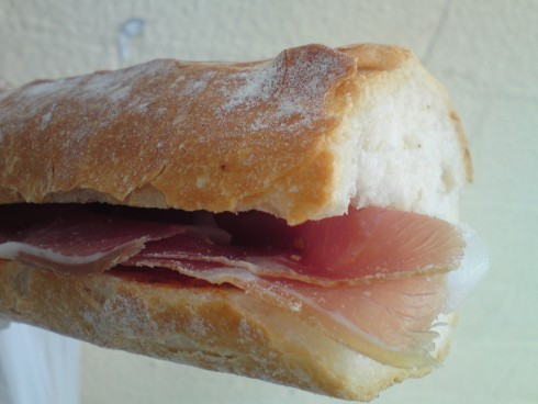 Prosciutto, Sundried tomato pesto, swiss cheese
