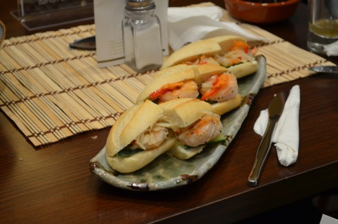 Prawn Dahon Baguettes at Gourmet Tea Lounge