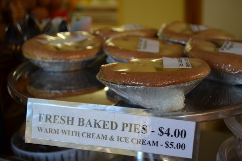 fresh pies at Bright Berry Farms