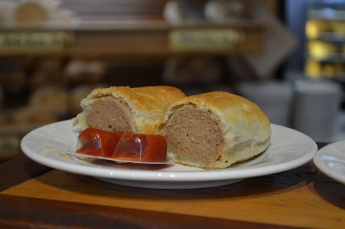 Sausage Rolls at beechworth bakery