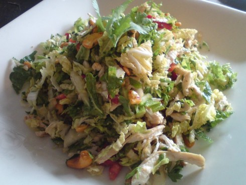 chicken salad at muharram cafe