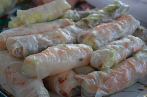 Vietnamese prawn and pork rolls