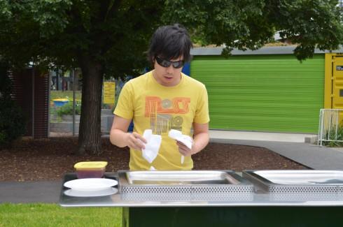 Me preparing the BBQ