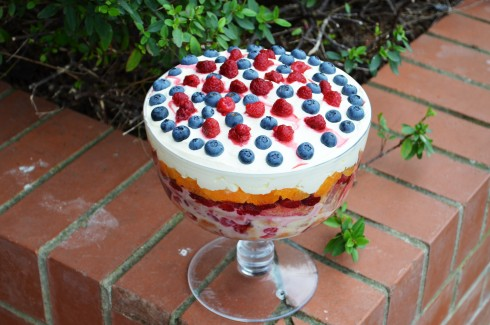 english trifle with berries
