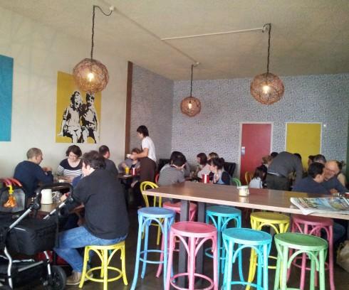 Inside Pour Kids cafe