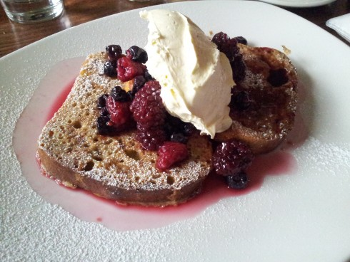 French toast at Pour Kids Malvern