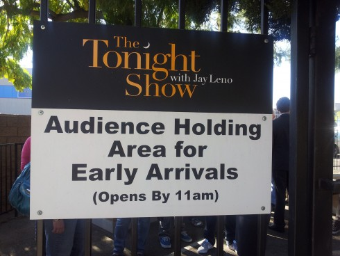 Audience members for the Jay Leno Show