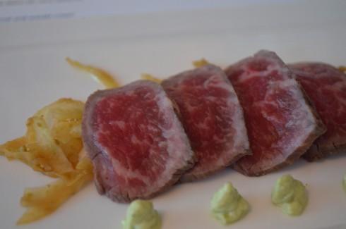 F1 Wagyu tataki, fennel and wasabi cream by Yosuke Furukawa