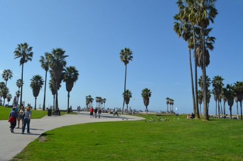 The boardwalk by Venice Beach