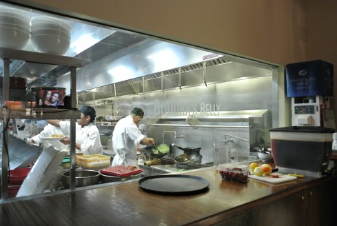 The kitchen at Buddha's Belly