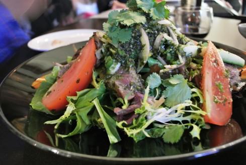 Thai beef salad at buddha's belly
