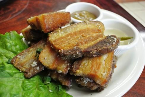 lechon kawali at Pinoy Lechon BBQ & Grill