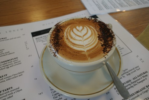 coffee at the reading room cafe