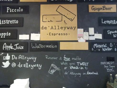 De Alleyway Espresso wall