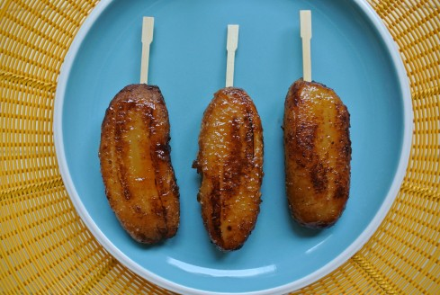 Banana Que pops with raw sugar coating