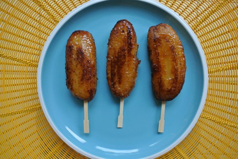 Filipino banana que pops