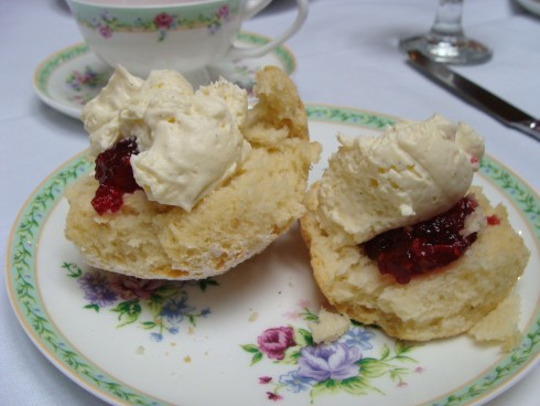 scones with jam and cream at The Terrace