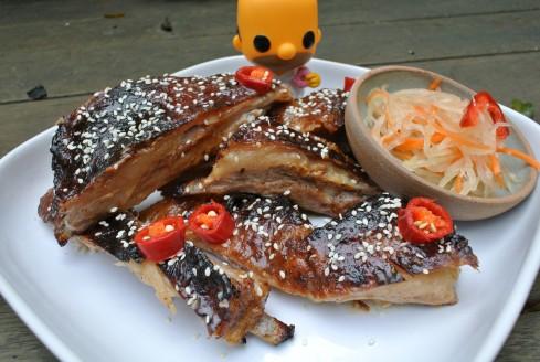 tamarind glazed bbq lamb ribs