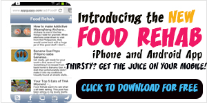 DOWNLOAD THE FOOD REHAB MOBILE APP FREE!