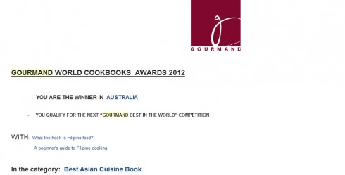 winning gourmand cookbook awards
