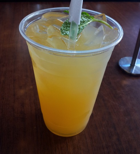 peach tea at jack n jills cafe