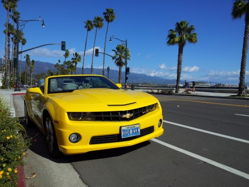 chevy camaro down the coast
