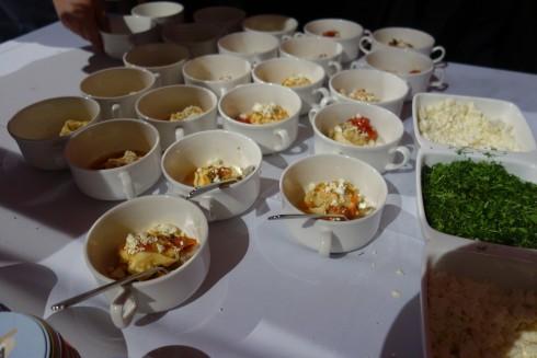 Mama Baba Tortellini, Prawn Saganaki, tomato, mustard, Fetta