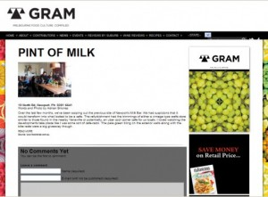 gram pint oif milk