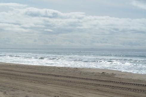 waves at malibu beach