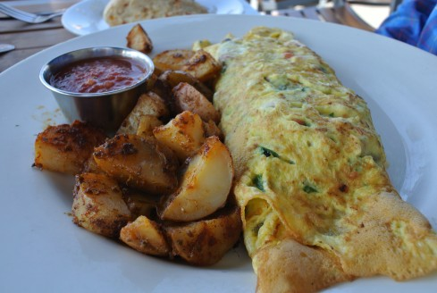 breakfast omelette at fig tree's cafe