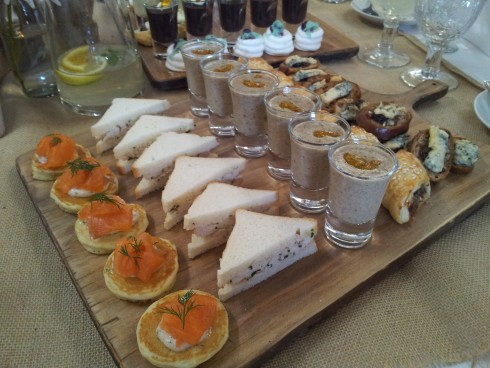 savoury items at Bursaria High Tea