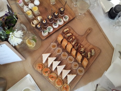 savoury board at Bursaria High Tea