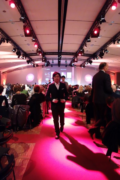 red carpet at gourmand cookbook awards paris