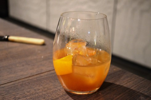 Belvedere Unfiltered, raisins, vermouth and orange