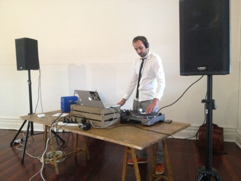 DJ at Bursaria High Tea