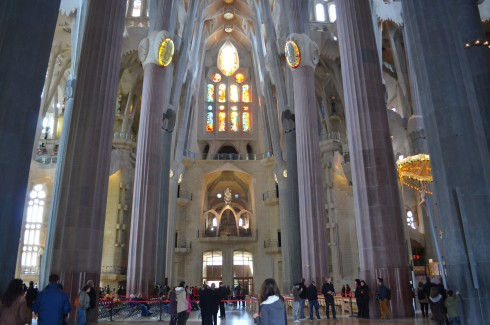 inside Sagrada Família barcelona