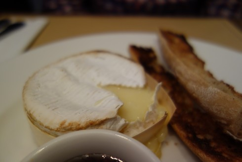 baked camembert with honey at Lou Lou Paris