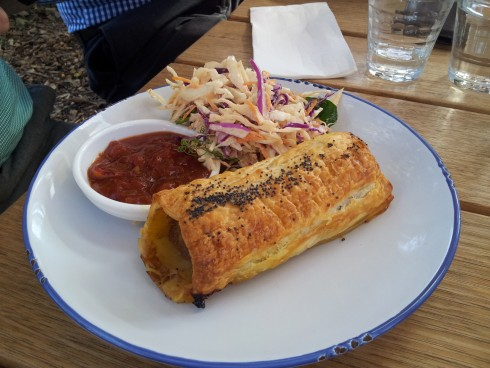 sausage roll the farm cafe