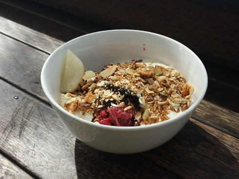 granola at mart 130 cafe