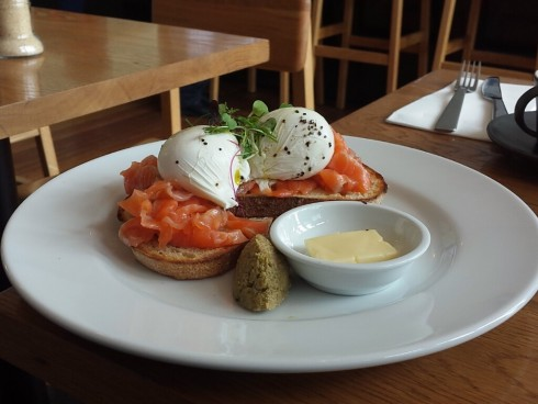 cured salmon fifty acres cafe richmond