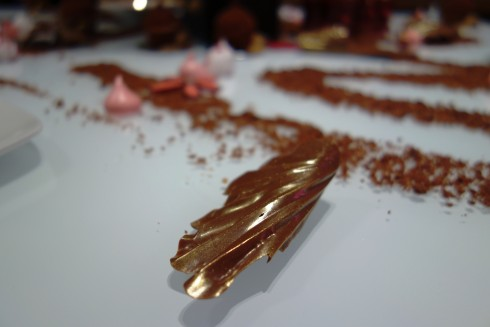 chocolate leaves at Burch and Purchese south yarra